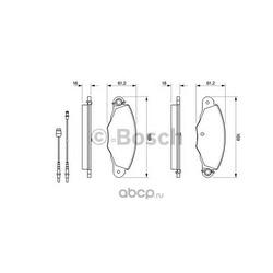 Комплект тормозных колодок, дисковый тормоз (Bosch) 0986424511