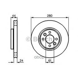 Тормозной диск (Bosch) 0986478590