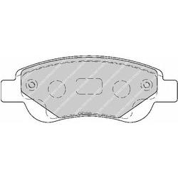 Комплект тормозных колодок, дисковый тормоз (Ferodo) FDB1790