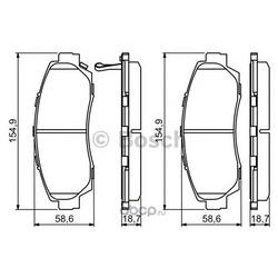 Колодки тормозные Bosch (Bosch) 0986494308