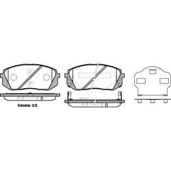 Комплект тормозных колодок, дисковый тормоз (Remsa) 130202
