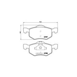 Комплект тормозных колодок, дисковый тормоз (Brembo) P24056