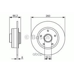 Тормозной диск (Bosch) 0986479684