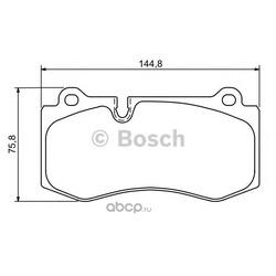 Комплект тормозных колодок, дисковый тормоз (Bosch) 0986494167