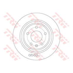 Тормозной диск (TRW/Lucas) DF6363