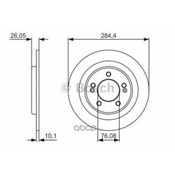 Тормозной диск (Bosch) 0986479A47