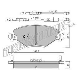 Комплект тормозных колодок, дисковый тормоз (Trusting) 3400