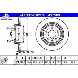 Тормозной диск (Ate) 24011201891