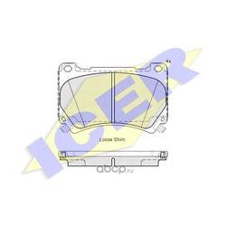 Комплект тормозных колодок (Icer) 182163