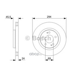 Тормозной диск (Bosch) 0986479372