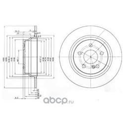 Тормозной диск (Delphi) BG3757