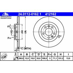 Диск тормозной (Ate) 24011201621