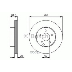 Тормозной диск (Bosch) 0986479S83