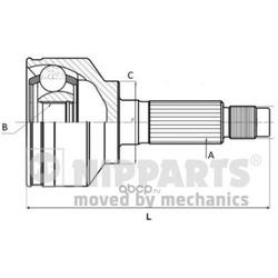 Шарнирный комплект (Nipparts) N2820312