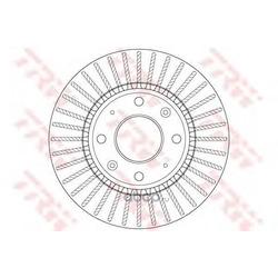 Тормозной диск (TRW/Lucas) DF6229