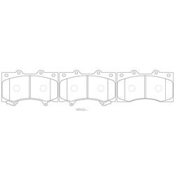 Колодки тормозные дисковые (FIT) FP0030