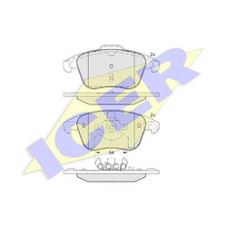 Комплект тормозных колодок (Icer) 181866200