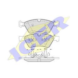 Колодки тормозные дисковые, комплект (Icer) 181771