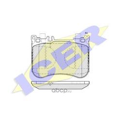 Комплект тормозных колодок, дисковый тормоз (Icer) 182080