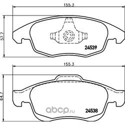 Комплект тормозных колодок, дисковый тормоз (Hella) 8DB355013341