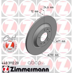 Тормозной диск (Zimmermann) 440311220