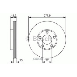 Тормозной диск (Bosch) 0986479R83
