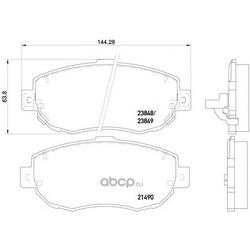 Колодки тормозные дисковые TEXTAR (Textar) 2149001