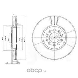 Тормозной диск (Delphi) BG3035