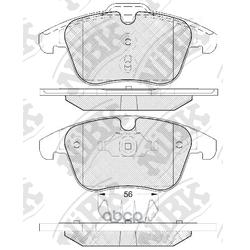 Колодки тормозные дисковые (NiBK) PN0462