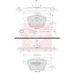 Дисковые тормозные колодки (Friction Master) MX1111