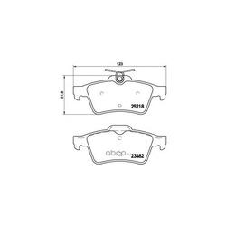 Комплект тормозных колодок (Brembo) P61110