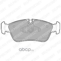 Комплект тормозных колодок, дисковый тормоз (Delphi) LP1925