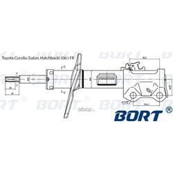 Стойка амортизационная газомасляная передняя правая (BORT) G22250138R