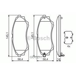 Колодки тормозные передние Bosch Ford Mazda (Bosch) 0986494323