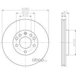 Тормозной диск (Hella) 8DD355106071