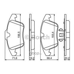 Колодки тормозные дисковые, комплект (Bosch) 0986494246