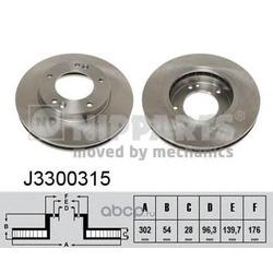 Тормозной диск (Nipparts) J3300315