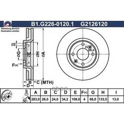 Тормозной диск (GALFER) B1G22601201