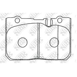 Колодки тормозные дисковые (NiBK) PN1370