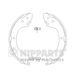Комплект тормозных колодок (Nipparts) J3505040