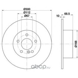 Диск тормозной TEXTAR (Textar) 92115403
