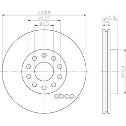 Тормозной диск (Hella) 8DD355109581