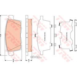 Комплект тормозных колодок, дисковый тормоз (TRW/Lucas) GDB3472