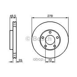 Диск тормозной вентилируемый (Bosch) 0986479179