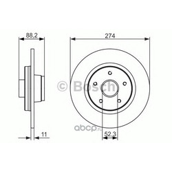 Комплект подшипника ступицы колеса (Bosch) 0986479695