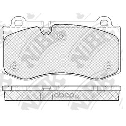 Колодки тормозные дисковые (NiBK) PN0453