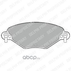 Колодки тормозные, комплект, передние (Delphi) LP1654