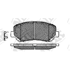 Колодки тормозные дисковые (NiBK) PN25000