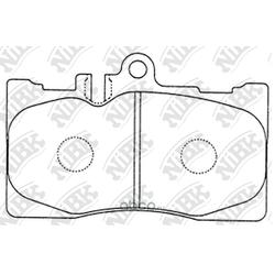 Колодки тормозные дисковые (NiBK) PN1455