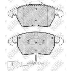 Колодки тормозные дисковые с датчиком износа (NiBK) PN0348W
